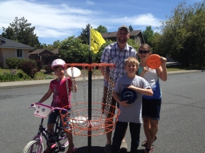 The kids gave Daddy a disc golf set.  Just in time for some summer fun!