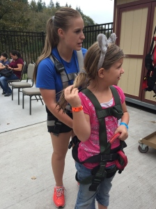 getting ready for the ropes course