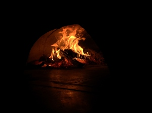 The fire in the oven, where all the magic happens
